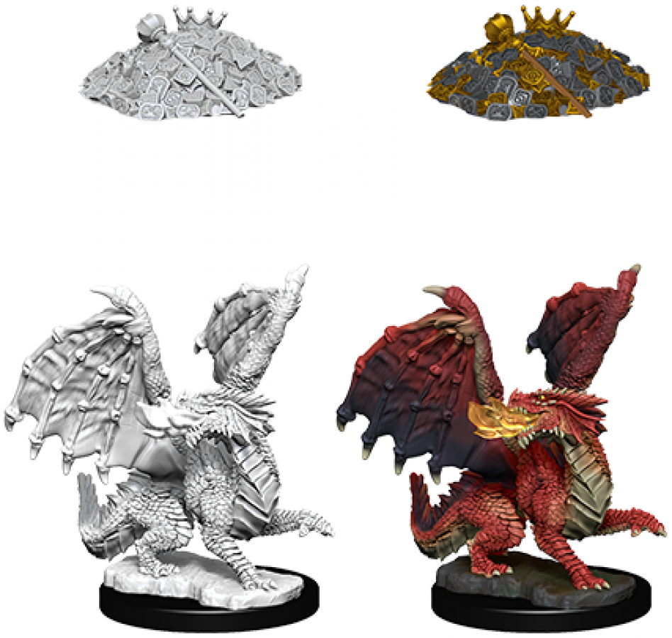 Dungeons & Dragons: Nolzur's Marvelous Miniatures - Red Dragon Wyrmling