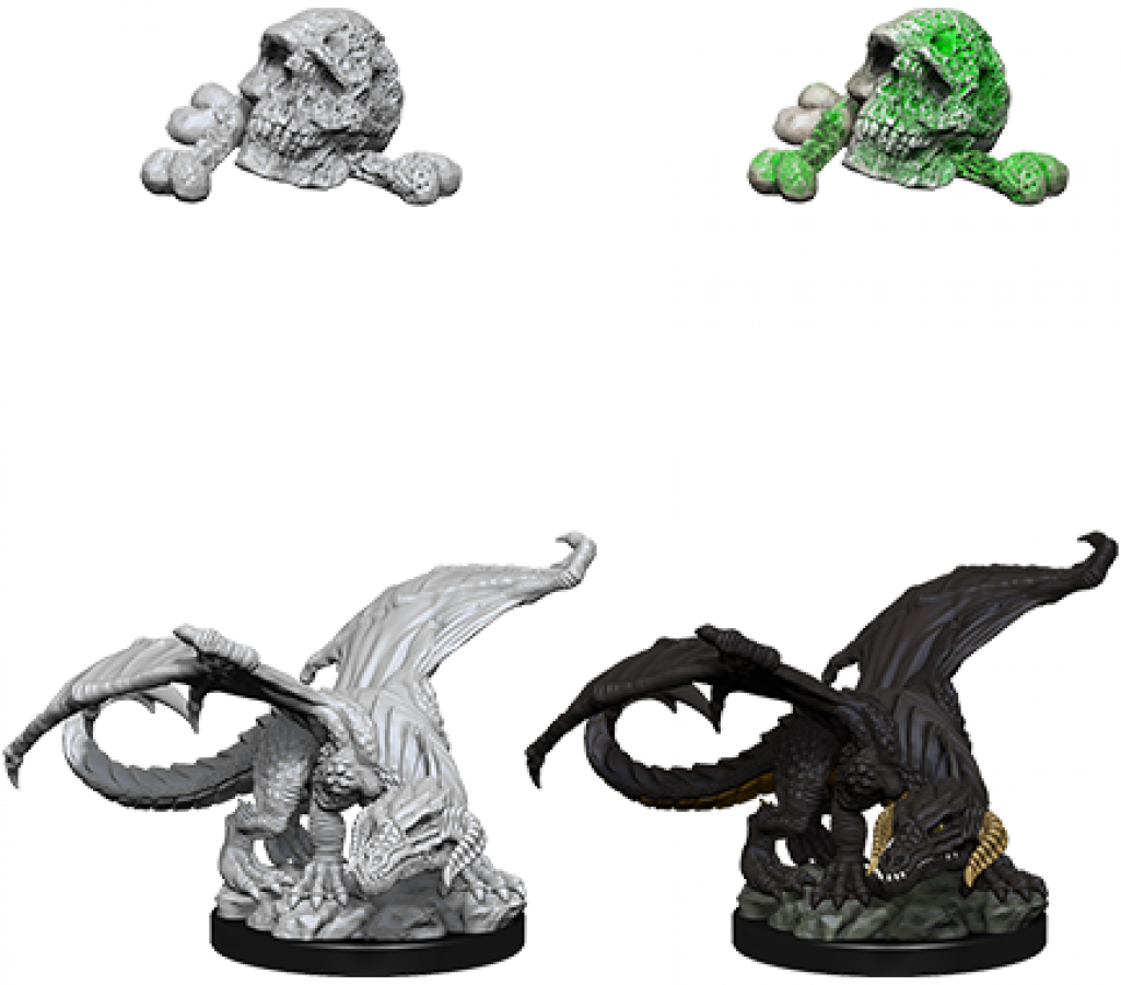 Dungeons & Dragons: Nolzur's Marvelous Miniatures - Black Dragon Wyrmling