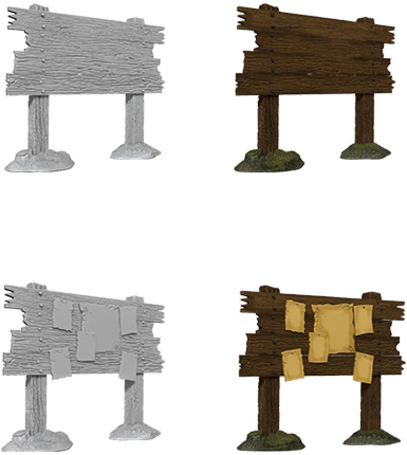 WizKids Deep Cuts: Unpainted Miniatures - Bounty Board