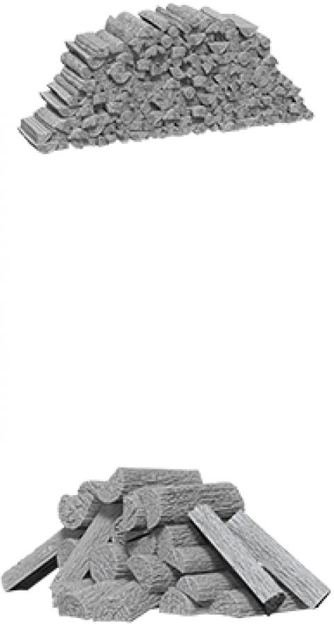 WizKids Deep Cuts: Unpainted Miniatures - Piles of Wood