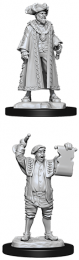 WizKids Deep Cuts: Unpainted Miniatures - Mayor & Town Crier
