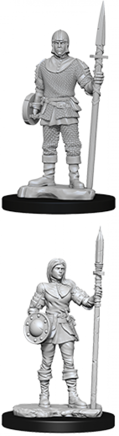 WizKids Deep Cuts: Unpainted Miniatures - Guards