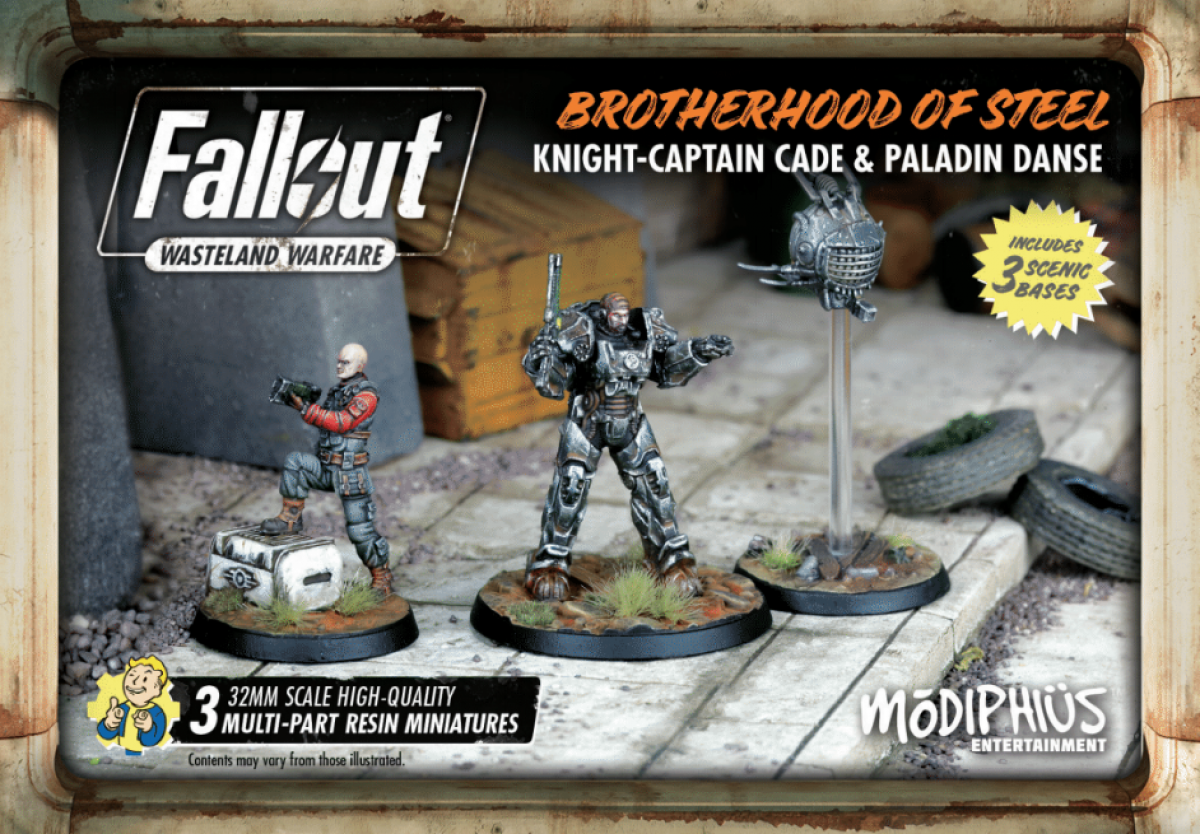 Fallout: Wasteland Warfare - Brotherhood of Steel - Knight-Captain Cade & Paladin Danse