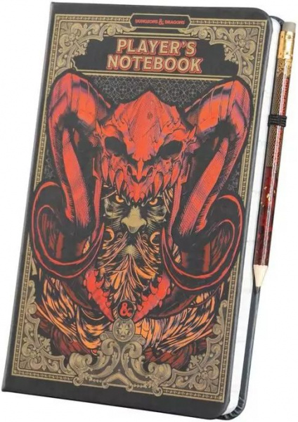 Dungeons & Dragons: Notebook and pencil