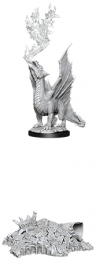 Dungeons & Dragons: Nolzur's Marvelous Miniatures - Gold Dragon Wyrmling & Small Treasure Pile