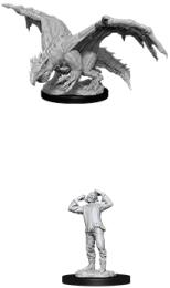 Dungeons & Dragons: Nolzur's Marvelous Miniatures - Green Dragon Wyrmling & Afflicted Elf