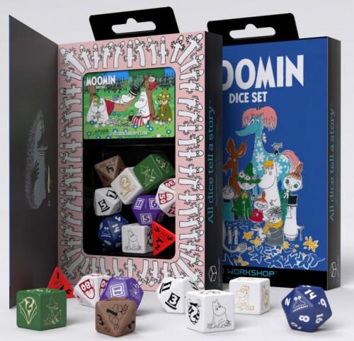 Komplet kości RPG: Muminki