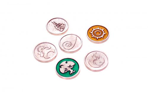 Metalowe monety - Żywioły (zestaw 6 monet)