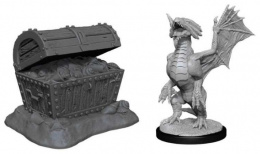 Dungeons & Dragons: Nolzur's Marvelous Miniatures - Bronze Dragon Wyrmling & Pile of Seafound Treasure