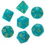 Komplet kości REBEL RPG - Kamienie Księżycowe - Jaspis