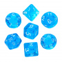 Komplet kości REBEL RPG - Mini Kryształowe - Błękitne