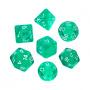 Komplet kości REBEL RPG - Mini Kryształowe - Zielone