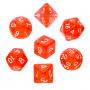 Komplet kości REBEL RPG - Mini Kryształowe - Czerwone
