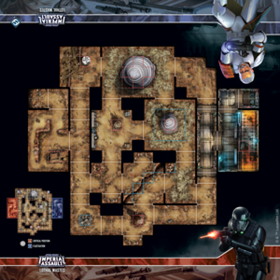 Imperial Assault Skirmish Map - Lothal Wastes