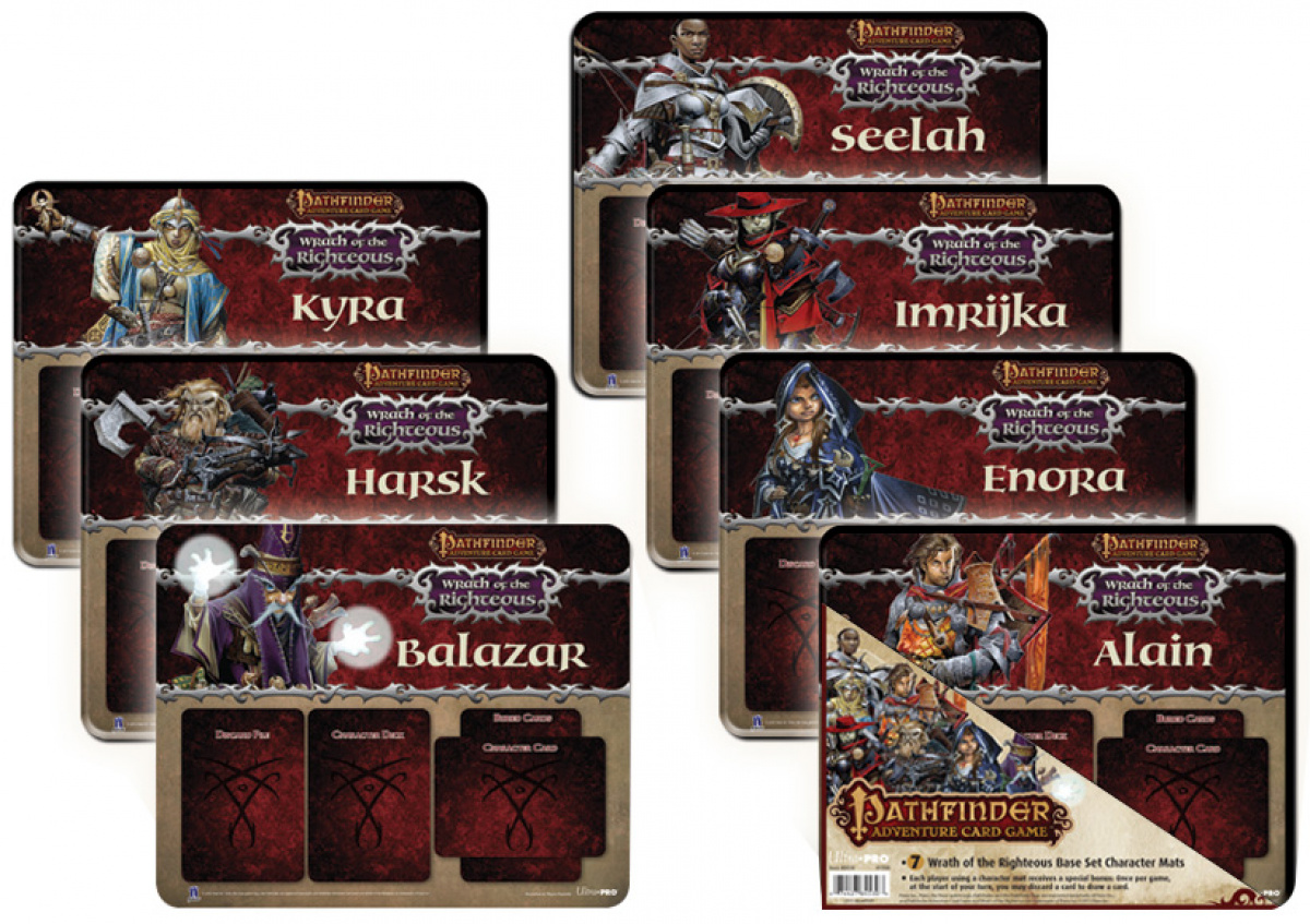 Pathfinder Adventure Card Game: Wrath of the Righteous Base Set Character - 7 Mats
