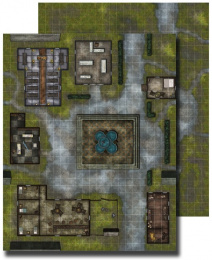 GameMastery Flip-Mat: Village Square