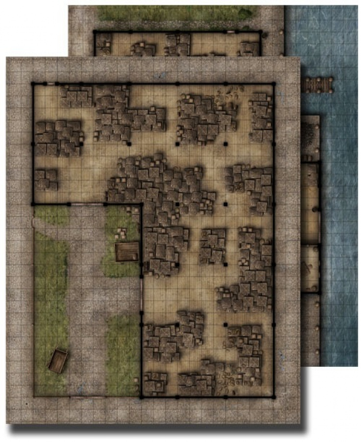 GameMastery Flip-Mat: Warehouse
