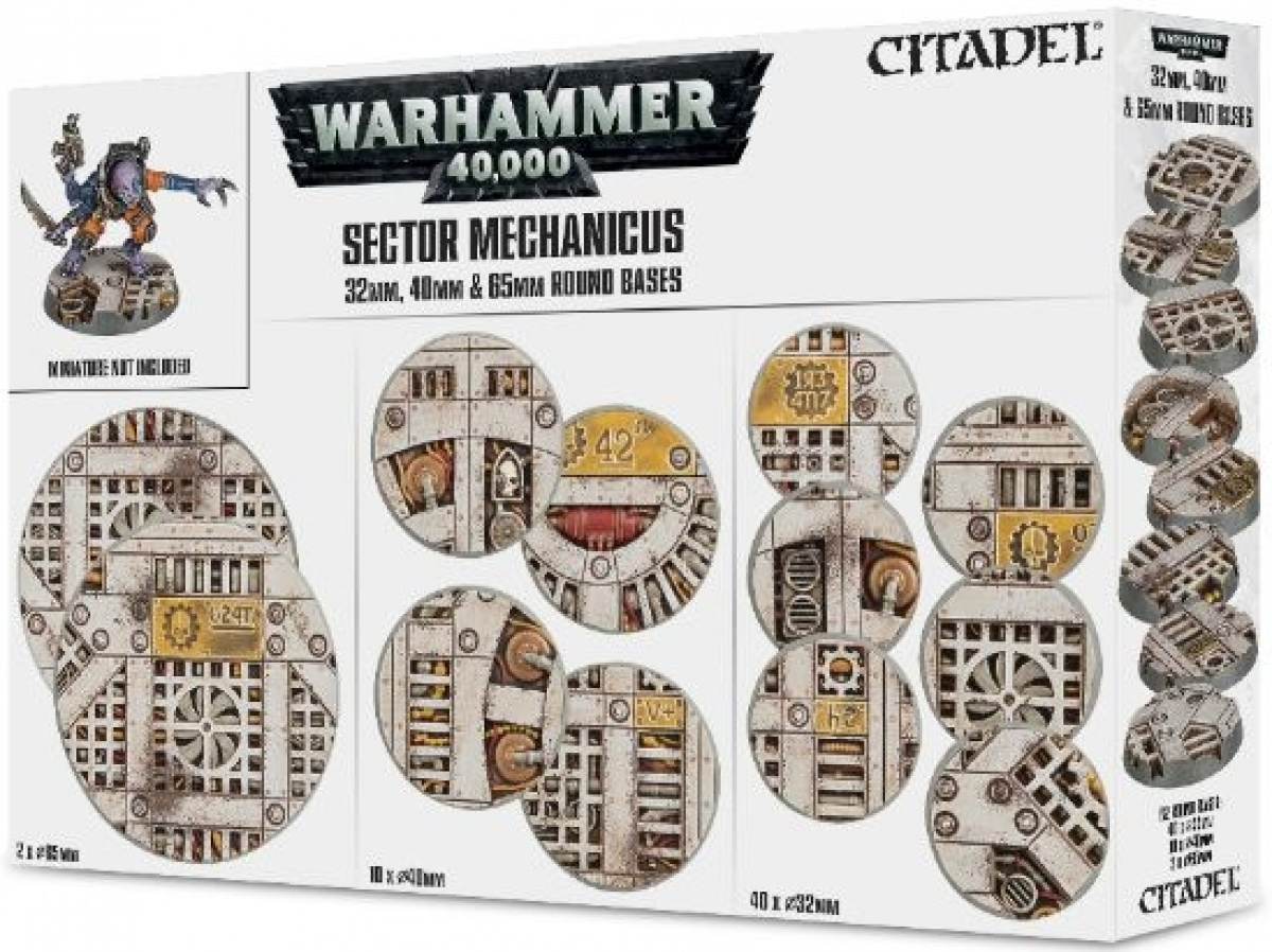 Warhammer 40,000: Sector Mechanicus - 32 mm, 40 mm and 65 mm Round Bases