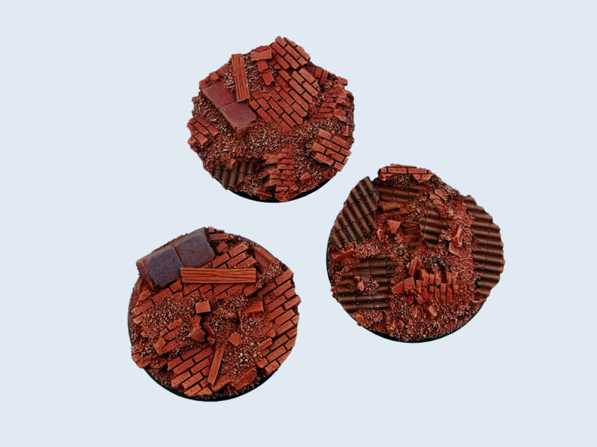 Old Factory Bases, Round 50mm (2)