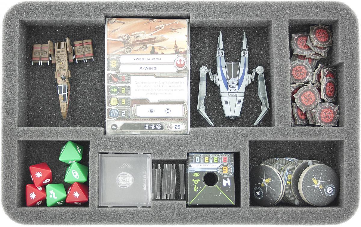 Feldherr Gąbka na X-Wing: Rebel Transport i Imperial Assault Carrier