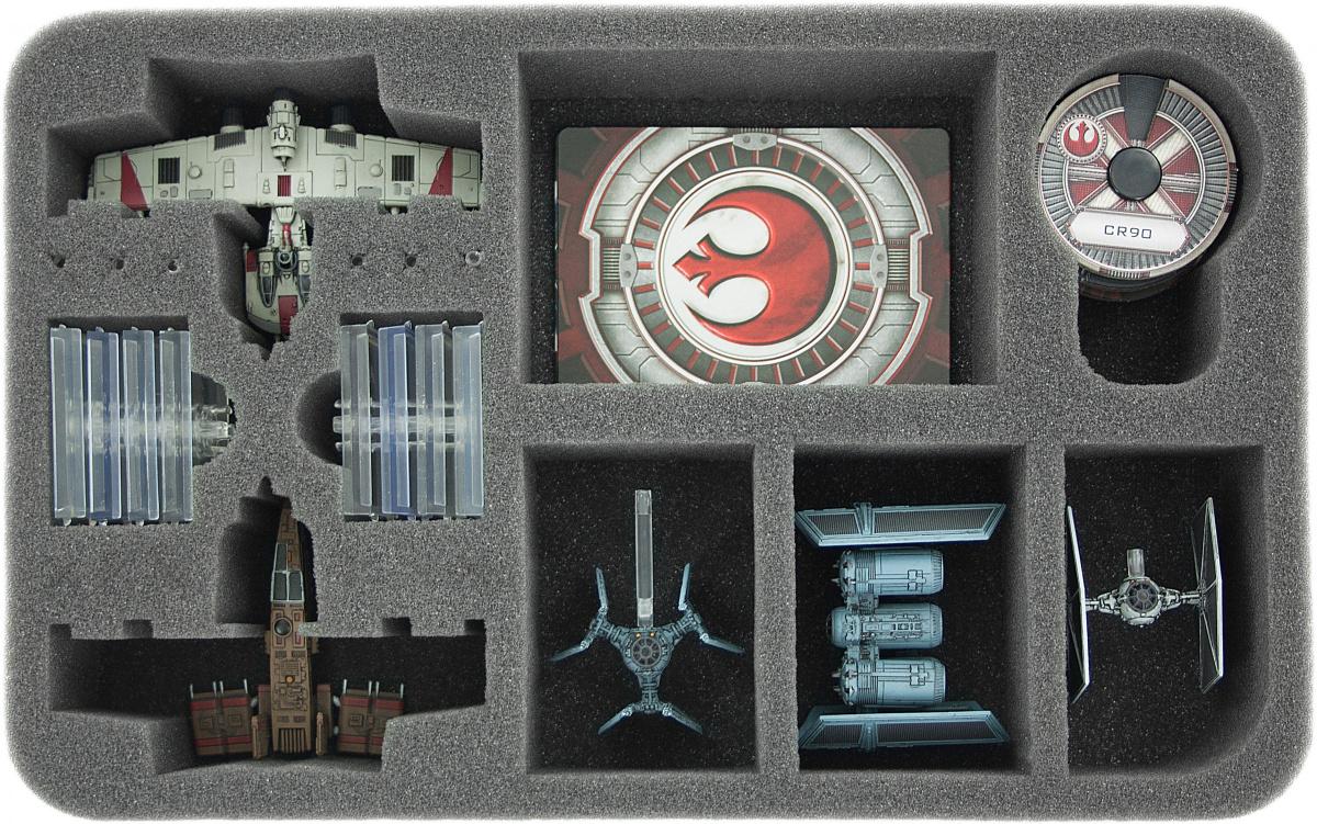 Feldherr Gąbka na X-Wing: 2x K-Wing, 3 statki i inne elementy