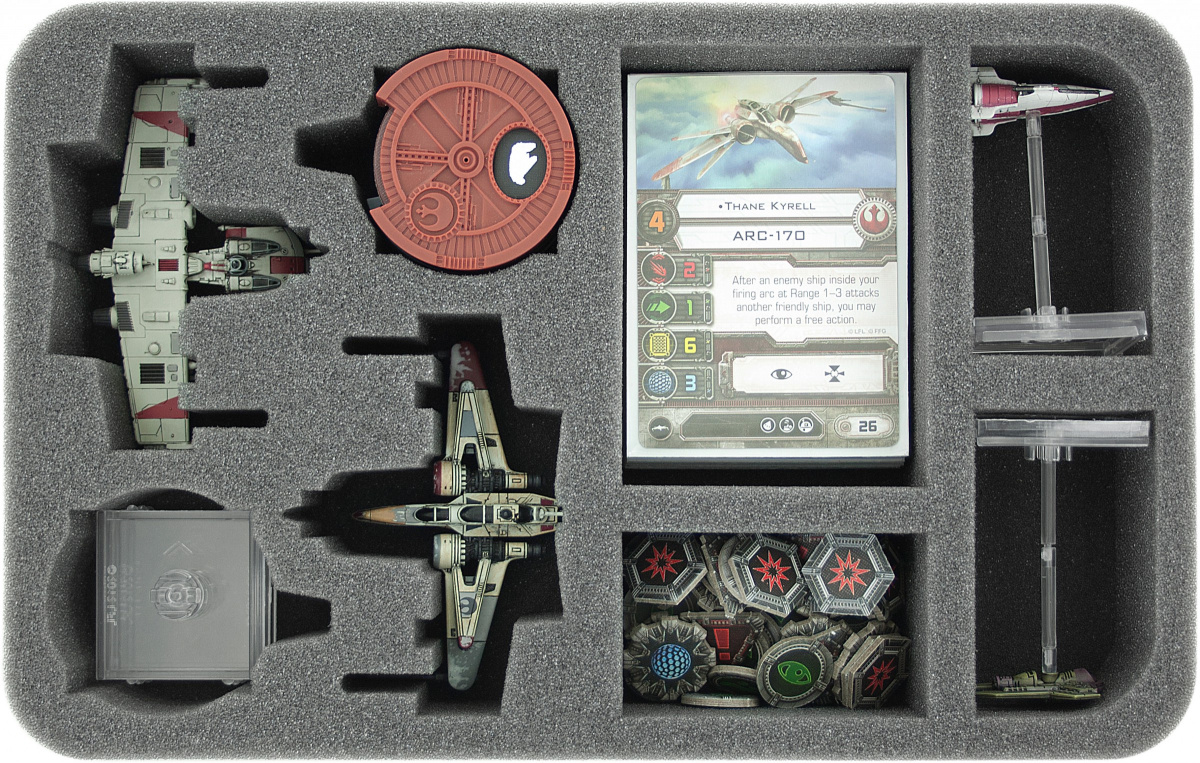 Feldherr Gąbka na X-Wing: 2x Arc-170 lub K-Wing i akcesoria