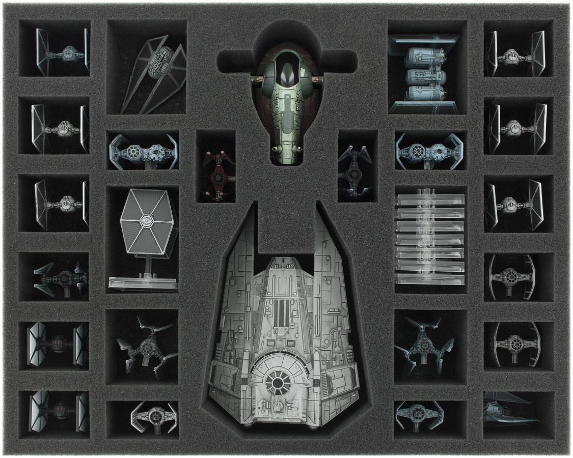Feldherr Gąbka na X-Wing: Decimator, Slave 1 i Tie Fighter
