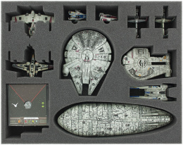 Feldherr Gąbka na X-Wing: Falcon, YT-2400, U-Wing, Rebel Transport