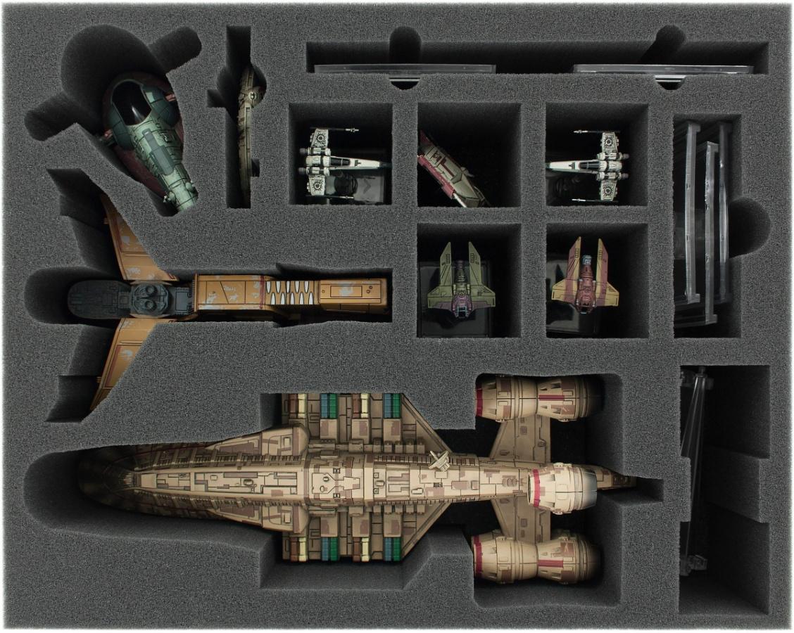 Feldherr Gąbka na X-Wing: C-ROC Cruiser, Hound's Tooth, JumpMaster 5000 i Slave 1