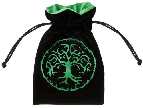 Sakiewka welurowa - leśna - czarno-zielona