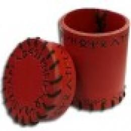 Kubek skórzany Czerwony Runiczny