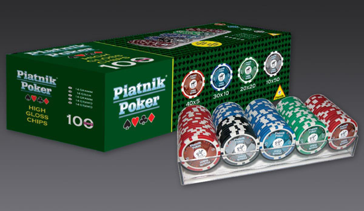 Piatnik Poker - 100 żetonów 14g