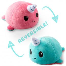 Odjechane jednorożce: Narwal o dwóch twarzach (Błękitny i różowy)
