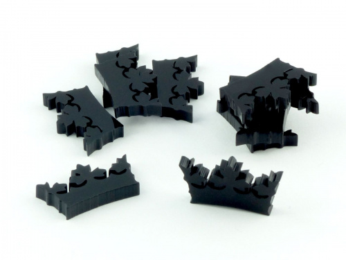 Crafters: Znaczniki akrylowe - Czarne - Kształt - Korona (10)