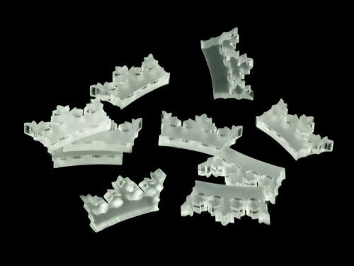 Crafters: Znaczniki akrylowe - Satynowe - Kształt - Korona (10)