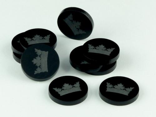 Crafters: Znaczniki akrylowe - Czarne - Korona (10)