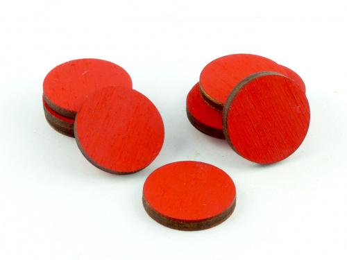 Crafters: Znaczniki drewniane - Czerwone (10)