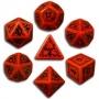 Komplet Elficki czerwono-czarny