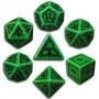 Komplet Kości elficki - Zielono-czarny
