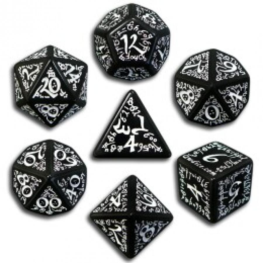 Komplet Kości elficki - Czarno-biały