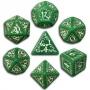 Komplet Kości elficki - Zielono-biały