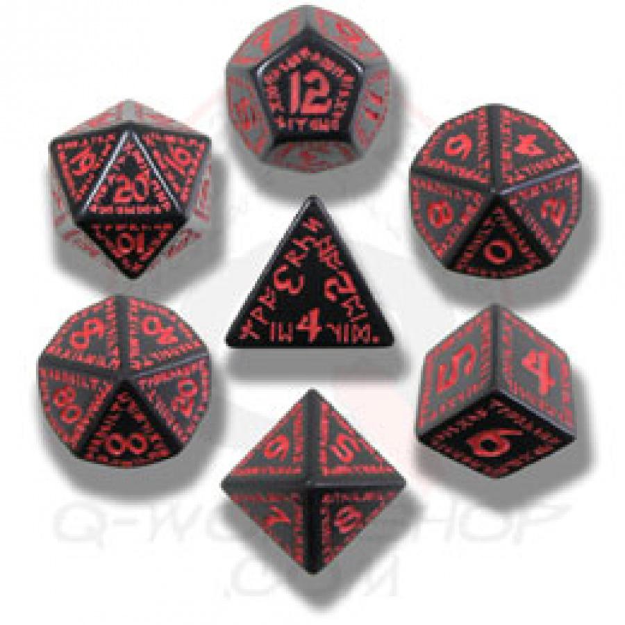 Komplet runiczny - Czarno-czerwony