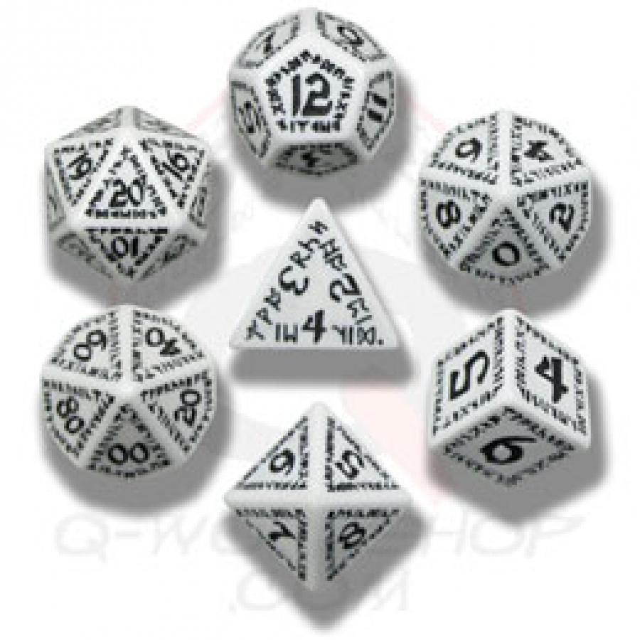 Komplet runiczny - Biało-czarny