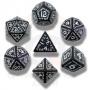 Komplet runiczny - Czarno-biały