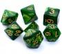 Komplet kości REBEL RPG - Perłowe - Zielone