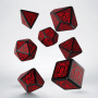 Komplet Kości celtycki - Czarno-czerwony 3D
