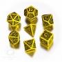 Komplet Kości celtycki - Żółto-czarny 3D