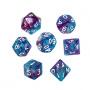 Komplet kości REBEL RPG - Dwukolorowe - Niebiesko-fioletowe