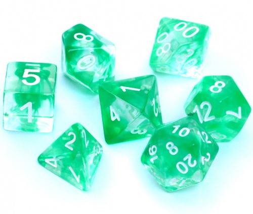 Komplet kości REBEL RPG - Nebula - Zielone