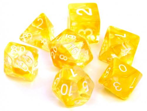 Komplet kości REBEL RPG - Nebula - Żółte